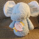 NWT Hallmark Lil' Peanut Personalized Never Forget You're Loved Blue Rattle Elephant Plush 9""