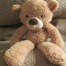 """Gund #320116 Fuzzy Carmel Brown Black Button Eyes Teddy Bear Lovey Plush 13"""""""
