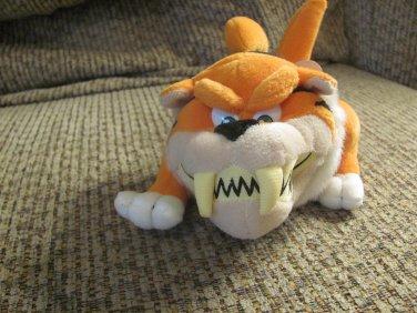 "1998 WT Vintage The Idea Factory Quaker Oats Meanies Cap'n Crunch Tiger Shark Orange Black Plush 8"""