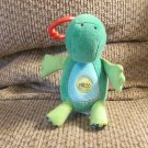 "Carters # 42033 Orange Blue Green Dinosaur T-Rex Musical Twinkle Twinkle Crib Toy 7"""
