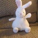 "Baby Ganz #BG2858 Bean Body Bunny Small White pink Bunny Rabbit Lovey Plush 7"""