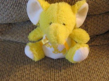 "Vintage Puli International Inc Love Bug Yellow Elephant Lovey Plush 7"""