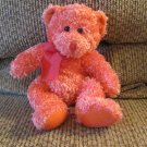 Russ Berrie Hot Pink Sparkly Stardust #20892 Teddy Bear Plush Lovey 10""