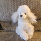 """Russ Berrie #24547 FiFi White Fluffy Poodle Puppy Dog Plush Lovey 8"""""""