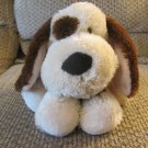 Russ Berrie #35321 Dog Tan Brown Spotted Puppy Dog Plush Lovey 10""