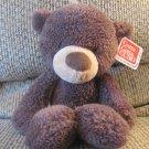 """WT Gund #320115 Fuzzy Brown Black Button Eyes Teddy Bear Lovey Plush 13"""""""