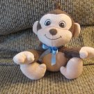 Garanimals #82280 Brown Tan Monkey Blue Bow Lovey Plush 7""