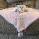 Carters Pink Tan Teddy Bear Rattles Love Is My Little Teddy Bear Lovey Security Blanket