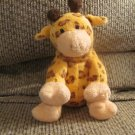 2004 Ty Pluffies Towers Orange Peach Brown Spotted Giraffe Lovey Plush