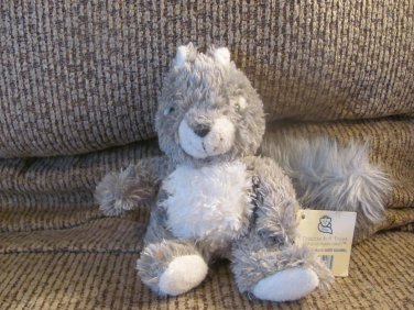 """WT 2003 Princess Soft Toys Babes In The Woods Sassy Squirrel Gray Furry Fluffy Tail Plush 7"""""""