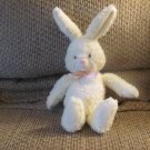 """HTF Applause Buttercup White Curly Fur Pink Accents Bunny Rabbit #53638 Lovey Plush 14"""""""