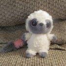 "Aurora Yoohoo Friends Small Beanie Boos White Gray Pink Laughing Lemur Plush 6"""