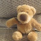 Russ Berrie #27427 Hodge Gingham Bow Brown Teddy Bear Lovey Plush 10""