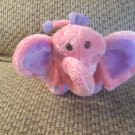 Galerie Pink Purple Elephant Appliqued Cheeks Toe Nails Lovey Plush 10""