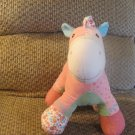 Gund Baby Pinkaboo #59057 Pink Corduroy Quilted Heart Pony Lovey Plush 10""