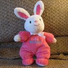 Carters Just One You My First Easter Pink White Bunny Rabbit Rattles Lovey Plush 10""