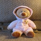 2013 Ty Baby Pluffies Pink PJ Bear Pajamas Large Plush 10""