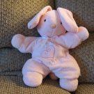 """Carters #48161 Pink Star Pillow Cuddly Cute Pink Satin Bow Ears Bunny Rabbit Lovey Plush 13"""""""