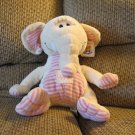 WT Chinda International Inc Cream Pink Striped Sunshine Elephant Lovey Plush