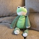 2010 Scentsy Buddy Ribbert The Frog Waffle Cloth Green Cream Lovey Plush