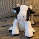 """WT Mary Meyer Sweet Rascals Black White Cow Sweet Constance Lovey Plush 9"""""""