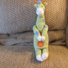 2010 Midwest CBK #S137565 Green White Blue Orange Spotted Knitted Magnetic Giraffe Plush