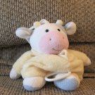 Soft Dreams #93881 Pink Yellow White Blue Cow Musical Crib Pull Toy Lovey Plush 11""