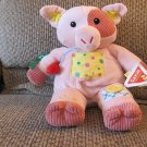 WT Dakin #40013 Penelope Pig Multi Sensory Play Activity Rattle Oink Lovey Plush 14""