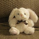 Galerie Hershey Company White Pink Lovey Small Bunny Rabbit Plush  6""