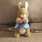 "Eden Peter Rabbit Bunny Rabbit Blue Coat Orange Carrot Lovey Plush 10"""