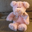 2008 Animal Adventure Pink Pig Piglet Gingham Bow Faded Tags Plush Lovey 11""