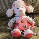 2007 Build A Bear Baby 1950s Poodle Skirt Rattle Pink Poodle Sensory Pink Poodle Plush