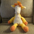 2001 Manhattan Toy #012124 Peabodies Gabriella Cream Orange Giraffe Yarn Hair Lovey Plush 17""