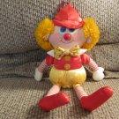 "Vintage 1985 Amtoy Silky Soft Orange Yarn Hair Hat Hanger Clown Lovey Plush 14"""