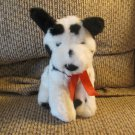 Russ Berrie #4707 Doodles Black Spotted Dalmatian Sitting Puppy Dog Lovey Plush
