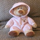 2012 Ty Baby Pluffies Pink PJ Bear Pajamas Large Plush 10""
