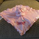 Gerber Pink Hot Pink Sweet Butterfly Flowers Teddy Bear Security Blanket Lovey Plush 11x11""