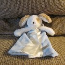Bunnies By The Bay Baby Cream Blue White Puppy Dog Skipper Security Blanket Lovey