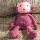 "2012 Animal Adventure Purple Pink Faced Monkey Lovey Plush 11"""
