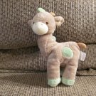 "Prestige Baby #9044 Tan Green Cream Spotted Giraffe Lovey Rattles Plush 8"""