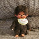 Vintage Sekiguchi Europe Holland Monchhichi Pacifier Sucking Yellow Bib Monkey Plush 8""