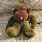HTF Vintage Dakin 1973 Ground Nutshells Bean Bag Gorilla Monkey Lovey Plush 10""