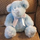 2005 Animal Adventure Light Blue Furry Teddy Bear Lovey Plush 8""