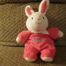 Carters Just One You My First Easter Rattles Hot Pink Pajamas White Bow Bunny Rabbit Plush Lovey 8""