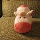 """2008 Ty Pluffies Mooer Pink Tylux Plush Cow Lovey Plush 12"""""""