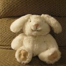 2012 Animal Adventure Tan White Cottontail Soft Bunny Rabbit Lovey Plush 12""