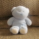 2005 Ty Pluffies My Baby Bear Light Blue Teddy Tylux Lovey Plush 9""