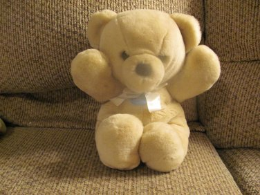 HTF LN WT Vintage 1979 Dakin Cuddles Tan Teddy Bear Lovey Plush 14""