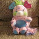 "2001 Toymax Inc Popples Polka Dottie Pink Purple Dots Pouch Lovey Plush 13"""