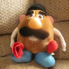1999 Hasbro Mr Potato Head Rose Heart Bowler Hat Leather Feet Lovey Plush 12""